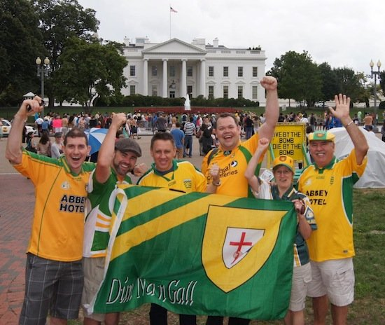 Donegal Fans Out side the Whitehouse in Washington DC