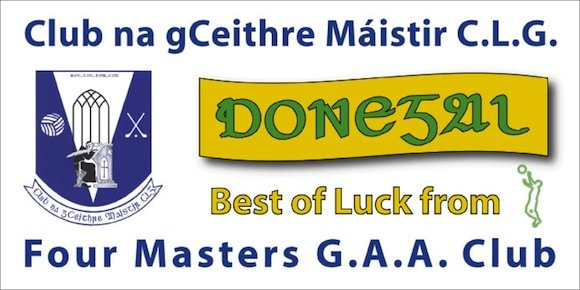 GOOD LUCK TO THE TEAM FROM EVERYONE AT FOUR MASTERS GAA CLUB