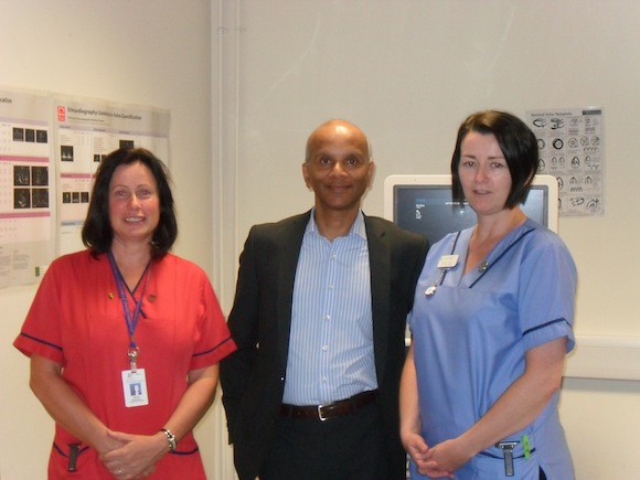 Elaine Robinson, Smoking Cessation Service, Letterkenny General Hospital; Dr. Santhosh David, Consultant Cardiologist; and Martina McDaid, Cardiac Rehabilitation Nurse, LGH