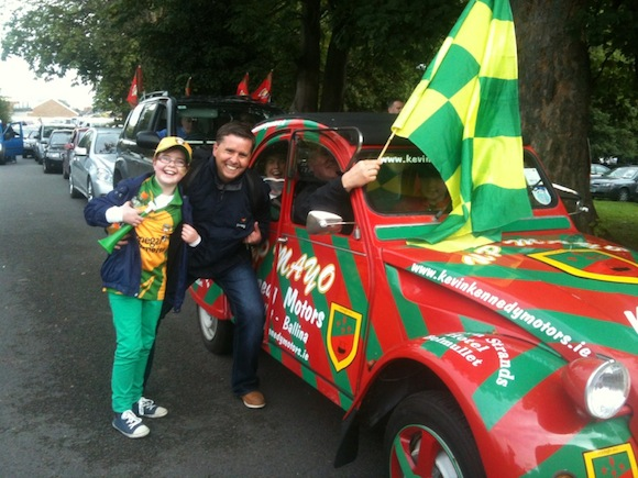 "Gabriel Duffy spotted this Mayo fan after the game. Said Gabriel: ""He was very gracious in defeat and said we deserved it. Fair play."""
