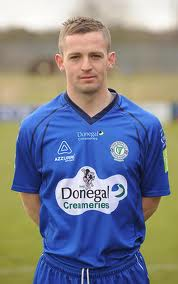 Kevin McHugh was on the scoresheet for Harps.