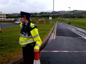 Gardai are stopping people entering the A@E as a precaution.