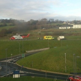 MAN RUSHED TO HOSPITAL BY CHOPPER AFTER FALL ON ISLAND