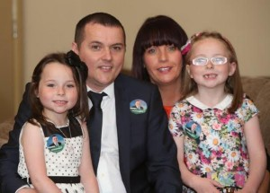 Cllr Martin McDermott with his family