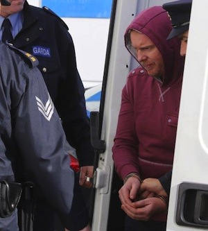 Julian Cuddihy arrives in court in Letterkenny this morning. Pic by Northwest News Pix.