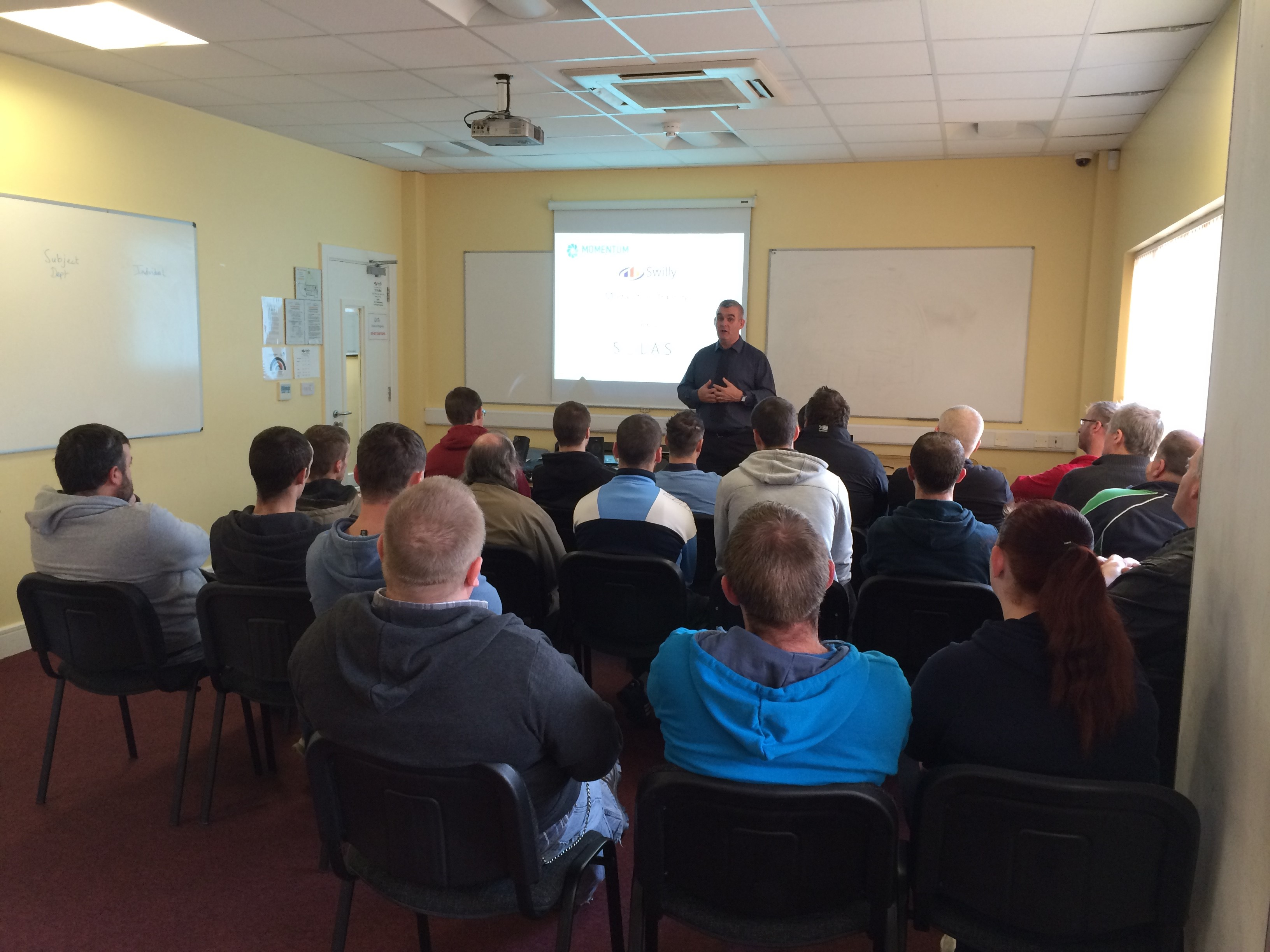 Gerard Lynch presents information on the Driving and Transport Management Courses.