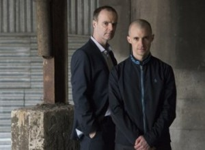 Eric O'Byrne (left) who has slammed the nomination of John McNulty along with Tom Vaughan Lawlor who plays Nidge in Love/Hate. Image courtesy of RTE.
