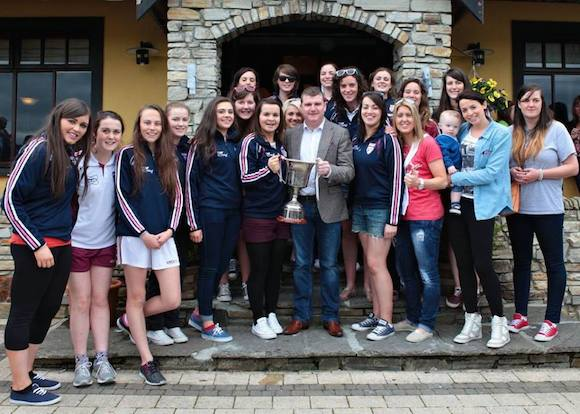 Cllr O'Donnell pictured with the Termon Ladies