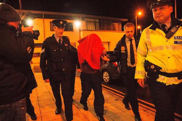Julian Cuddihy, 42, arriving at a special sitting in Ballyshannon District Court this evening.Photo: James Connolly / PicSell824OCT14