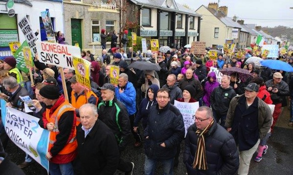 The recent march in Letterkenny.