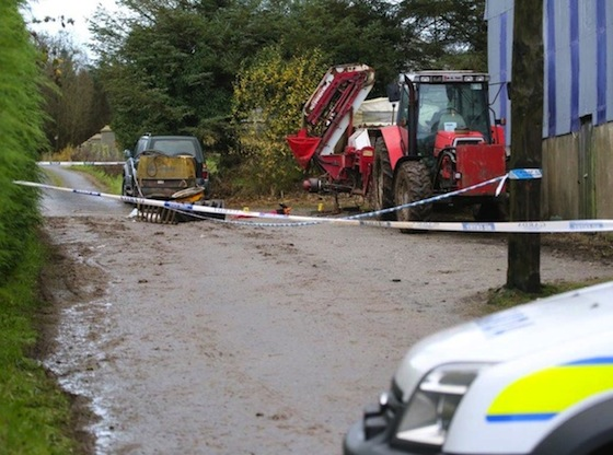 The scene of the double tragedy which claimed he lives of two farmers. Pic by Northwest News Pics.