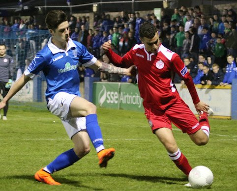 Ruairi Keating was a threat for Harps up front. Pic by Northwest Newspix.