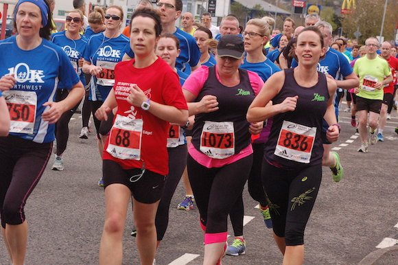 Some of the many runners in today's North West 10K race in Letterkenny.