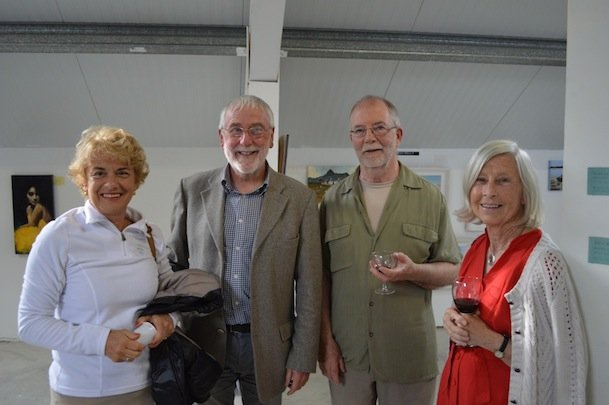 New Size Bernadette Samson, Jack Brereton, Artist Martin Dorgan and Laura Cherubini at the exhibition