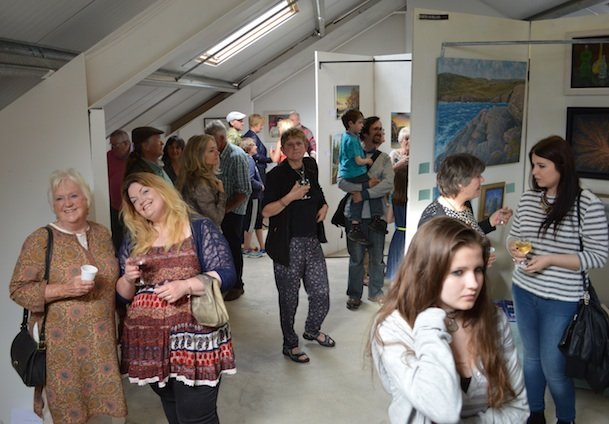 New size some of the attendance at the art exhibition