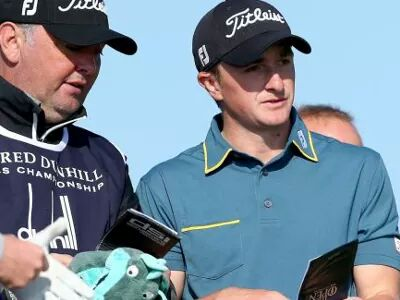 James McHugh (left) pictured with current Ireland's newest golf star Paul Dunne.