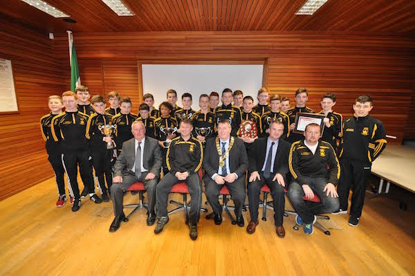 Some team for one team: The history boys at their civic reception tonight