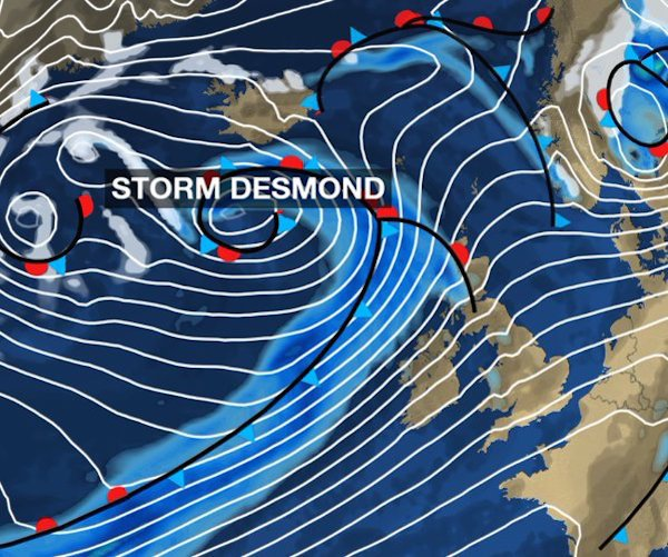 Storm Desmond Red Alert Donegal Experiencing Once In 50