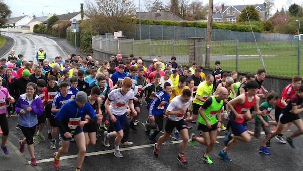 Some of the great turn-out for tonight's St Eunans 5K.