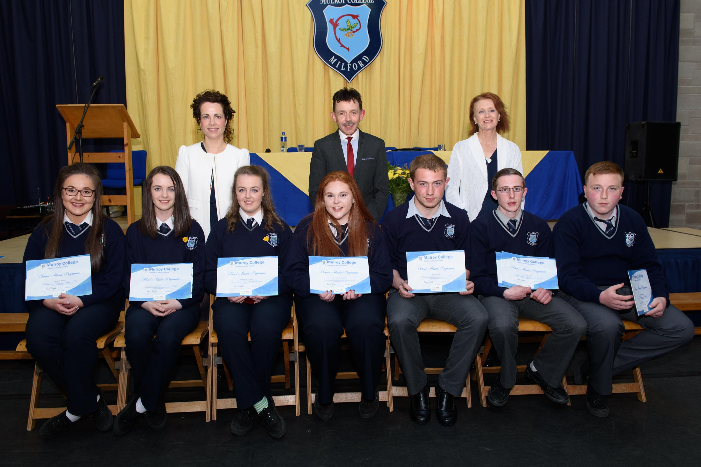 page donegal daily photo clive wasson school mentor programme students at the mulroy college student awards seated from left are caoimhe balney