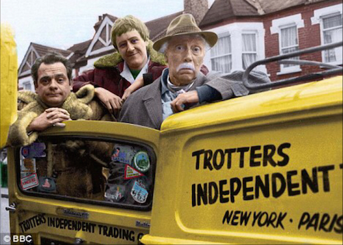 Del-Boy Rodney and Grandpa on one of the their many adventures.