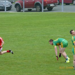 Ryan Langan on the attack for St Michael's.