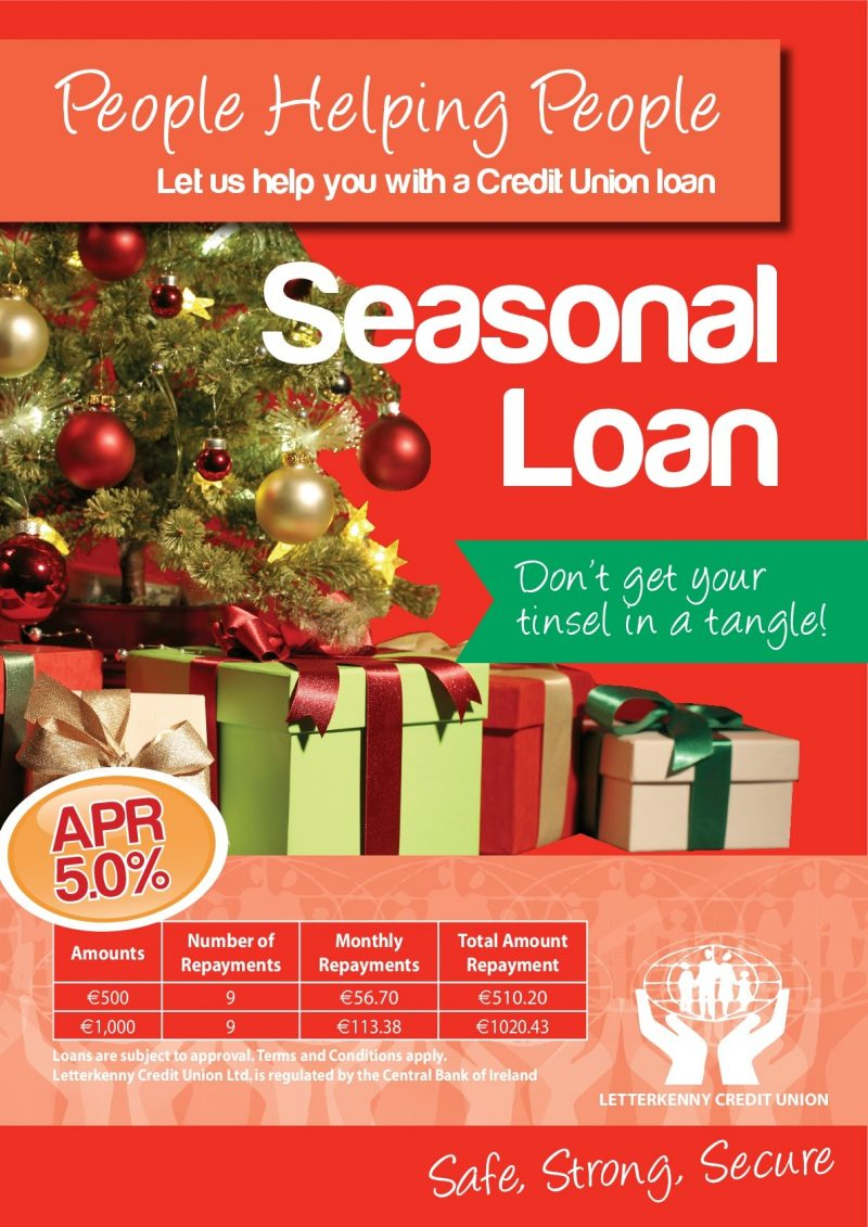 Letterkenny Credit Union's Christmas loan is back! – Donegal Daily