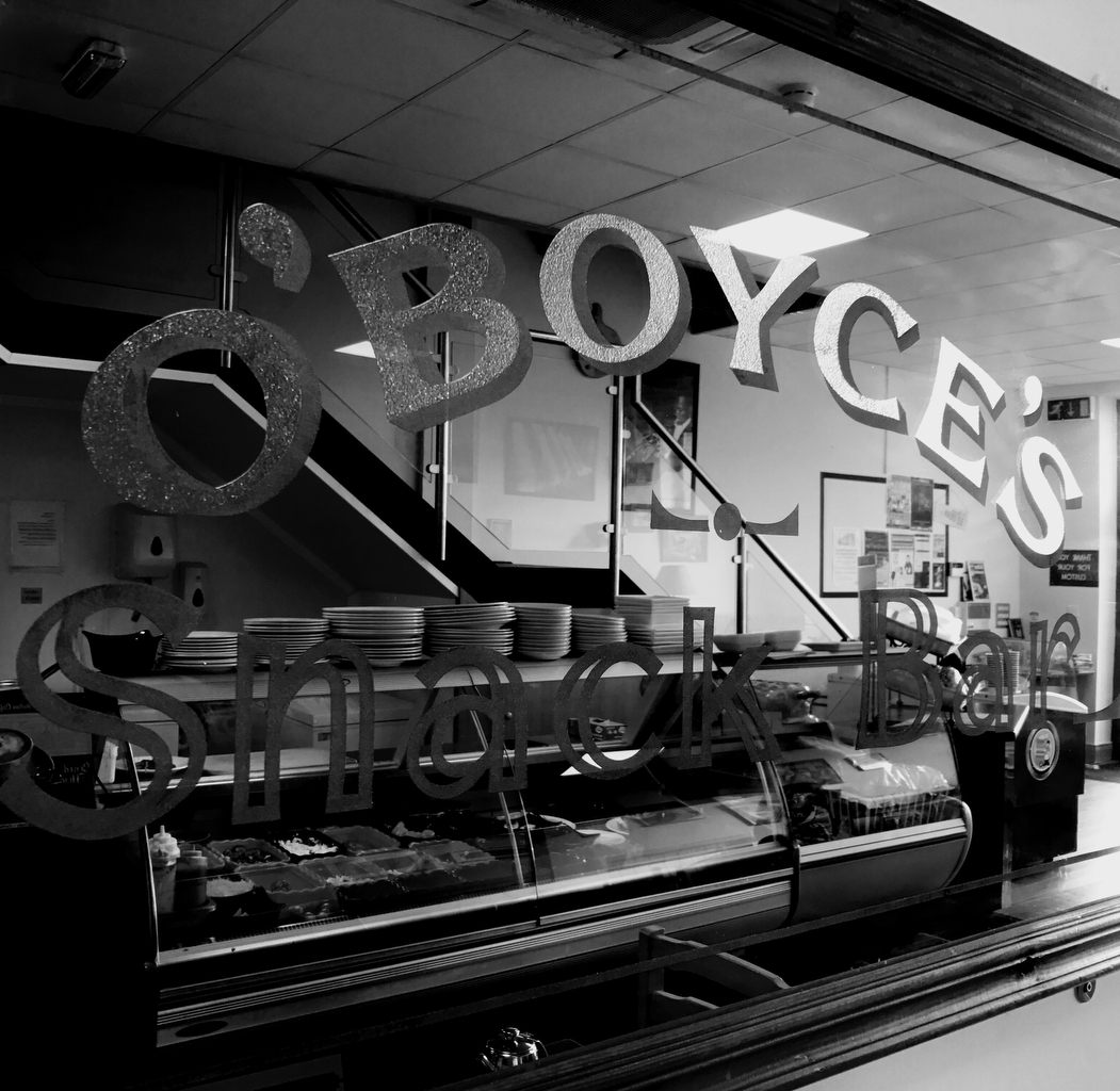 The old mirror of Boyce's Cafe remind me of my early days on the road behind the wheel of my first van. Photo Brian McDaid