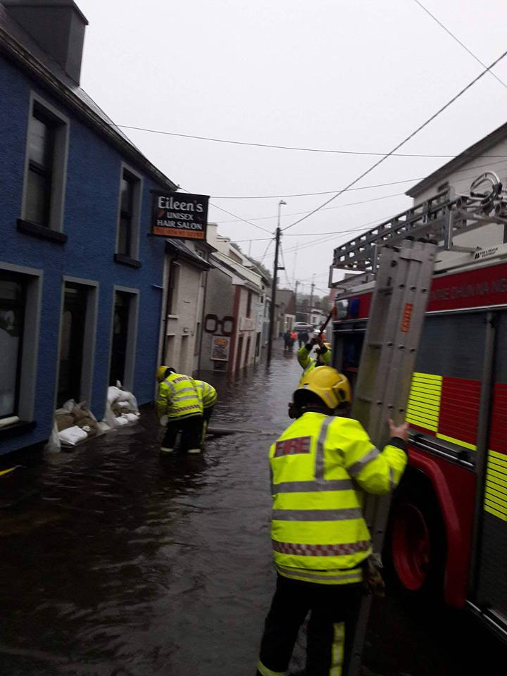 Killybegs flooding support systems begin as clean up for 4th street salon