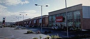Letterkenny Retail Park is to be sold after going into receivership.