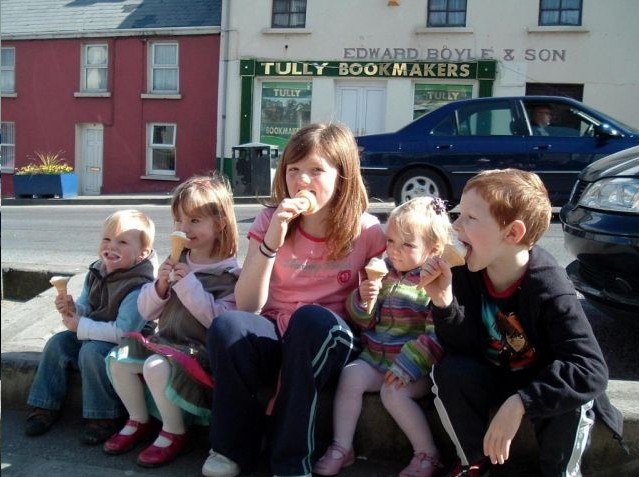 Madeleine (second from left) on her last trip to Donegal before she disappeared.