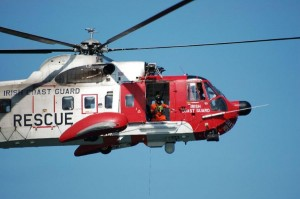 The 118 rescue helicopter was dispatched earlier today.