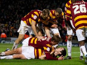 McHugh celebrates his goal