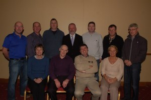 The Donegal Sports Star Awards Committee who are preparing for their 37th annual presentation function in the Mount Errigal Hotel on Friday, January 25th. Included at front are May Logue (Assistant Secretary); Patrick McLaughlin (Treasurer); Neil Martin (Chairperson) and Grace Boyle (Secretary). Back from left – Myles Sweeney, Gerry Davenport, Paul Callaghan, Bartley McGlynn, Niall Blaney, Seamus Curran and Paul McDaid