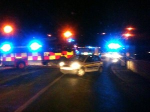 The scene of the latest accident in Carrigans