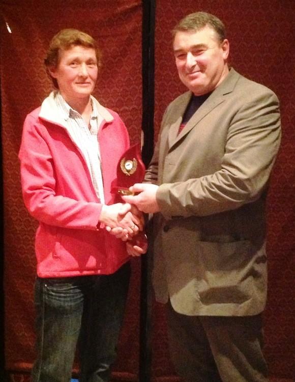 Master Athlete female -Marie Rooney receives award