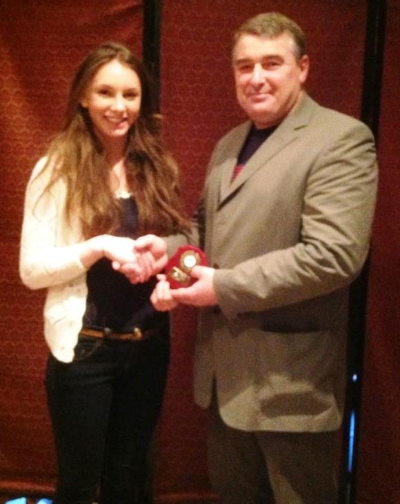 Sprint Girl –Kelly Mc Grory receives award