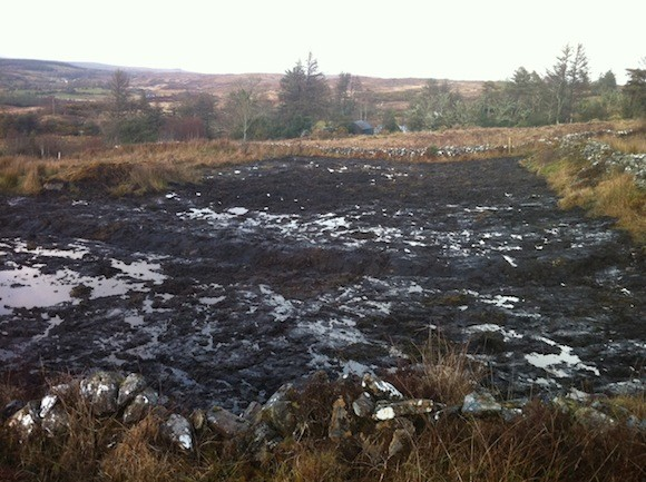 The site at Cashelard which Gardai dug up in the search for missing Mary Boyle. Pic by Donegal Daily.