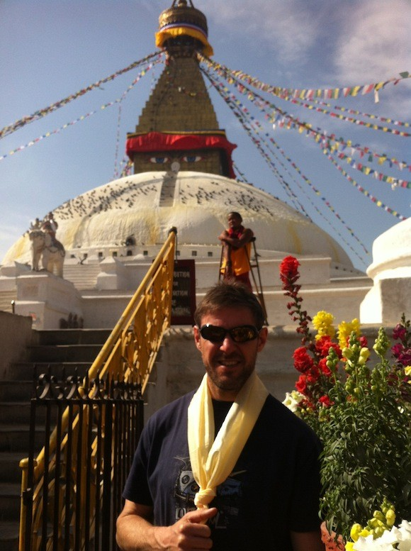 Jason Black in Tibet after receiving his Blessing