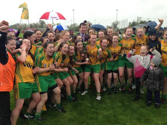 Donegal's Minor Girls celebrate