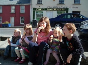 Madeleine in Donegal, pictured second from left in April 2007. She disappeared in Portugal two weeks later