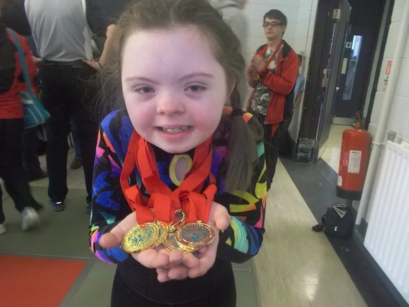 Meg and her medals!