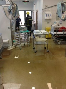 A scene from the hospital last Friday. donegaldaily.com