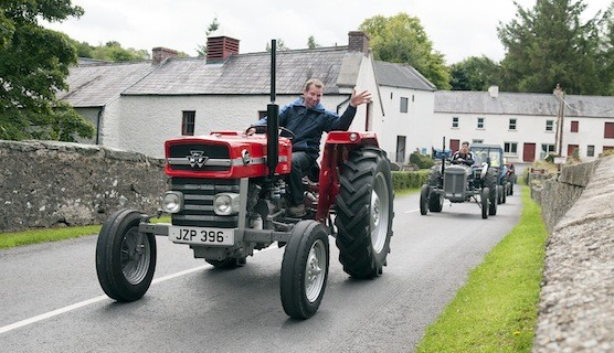 Neville Rodgers makes his way through Newmills on the Drumoghill NS Tractor Run.