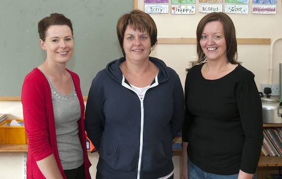 Chief refreshment providers on the day Tara Campbell, Margaret McConnell and Tina Crawford take time out for a quick pic.