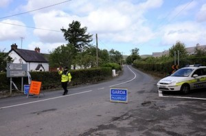 The scene near the fatal collision at Kinnegear Rathmullan on Saturday morning where two lost their lives and two were injured. Photo Francis Diver