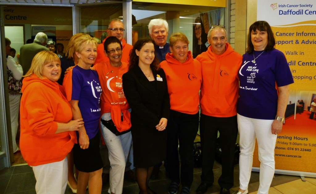 Relay For Life Donegal Committee Members with Cancer Specialist Nurse Teraze Toby and Reverend Stewart