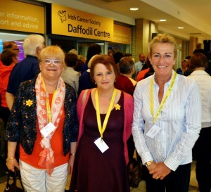 Daffodil Centre Volunteers (from left) Mary C. O'Donnell, Sarah McGee, Caroline Vilamajna