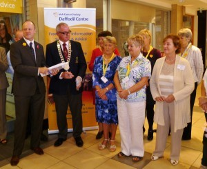 Mark Mellett, Head of Fundraising for the Irish Cancer Society praised the hard work of the Daffodil Centre Volunteers