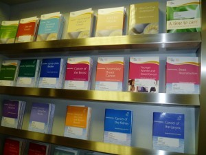 A wide selection of leaflets are available in the Daffodil Centre. Visitors can also speak privately with Teraze about specific medical queries.